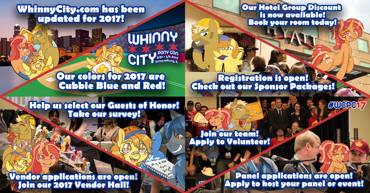 We're updated for Whinny City 2017! Help us select our guests of honor and submit your applications!
