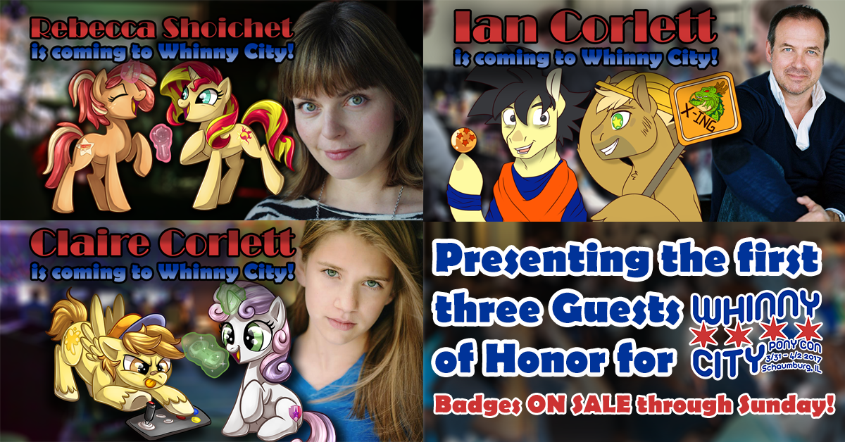 Triple Guest Announcement: Rebecca Shoichet, Claire Corlett and Ian James Corlett!